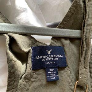 American Eagle short overalls